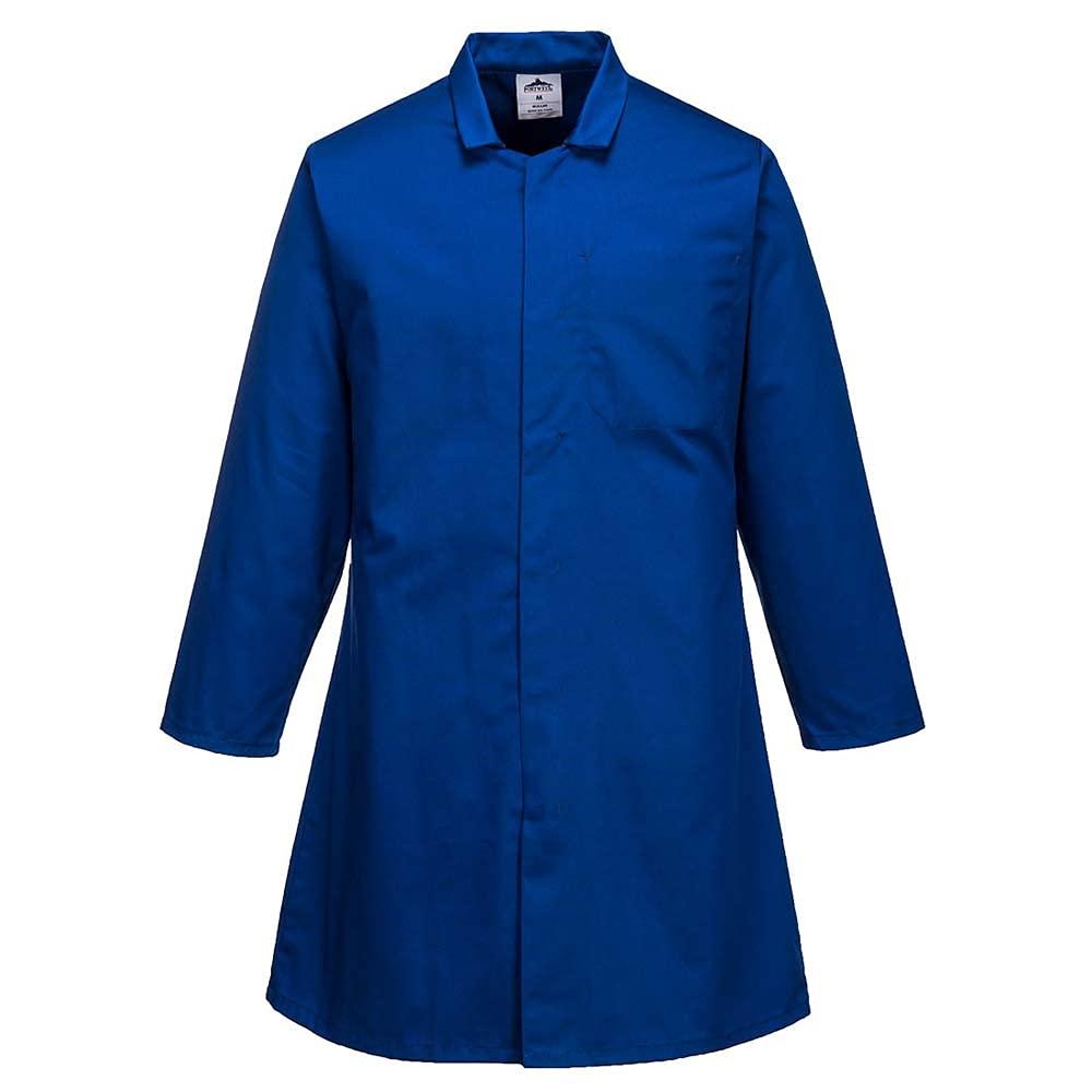Portwest Workwear Mens Mens Food Coat One Pocket Royal XL