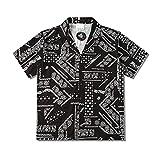 fpengfashion Harajuku - Camisa bohemia con botones para mujer, adolescentes, hip hop, corte entallado, estilo hawaiano, para hombre