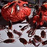 Neusky 160 Stücke Pflastik-Tierchen, Spinnen, Maden und Fliegen für Halloween, Karneval, Fastnacht, Fasching oder Thema Festival, Party und Dekoration (Halloween, 160Stück) - 8