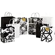 Hallmark Medium Gift Bag Assortment for Birthdays, Baby Showers, Bridal Showers or Any Occasion (Pack of 12; Neutrals)