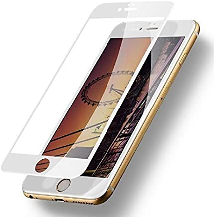 KEVAY ™ Premium 9H 5D Full Edge to Edge Curved Tempered Glass Screen Protector for iPhone 7 Plus (White)