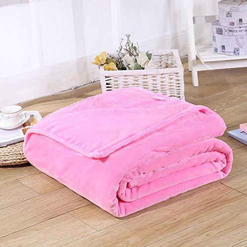 Ririhong Sofá de,Manta de Cama de 1 Pieza, Mantas de Lana de Coral para Manta de Cama, Textil para el hogar Lavable a máquina -70cmx100cm_Pink