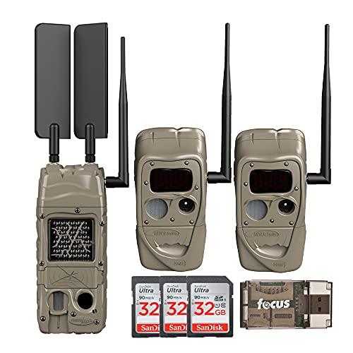 Cuddeback CuddeLink Cell Trail Camera (Verizon), Black Flash Small Bundle (7 Items)