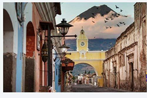 Rompecabezas Para Adultos Arquitectura Colonial En La Antigua Ciudad De Antigua Guatemala Centroamérica Guatemala Puzzle 1000 Piezas Diy Para Regalo De Juguete Adulto Para Niños
