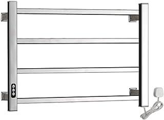 GXFC 40W Radiador toallero eléctrico, Toallero Calefactor de Pared de Acero Inoxidable con Temporizador, Opciones Cableadas y enchufables, pulidas