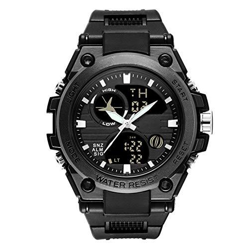 Lfhing Reloj de pulsera digital para hombre, multifunción, impermeable, de plástico luminoso, para hombre