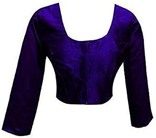 Damen Designer Frauen Choli Indian Top Rohseide Bluse Wedding Party Wear Best Match für Saree von 28-44 Blau