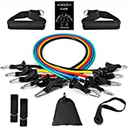 Vdealen Resistance Bands Set, 5 Workout Bands - Stackable Up to 150 LBS - Portable Home Gym Accessories, Suitable for Home Exercise, Physical Therapy, Gym Training, Yoga