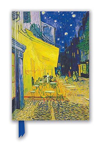 Premium Notizbuch Blank DIN A5: Vincent van Gogh, Caféterrasse am Abend: Unser hochwertiges Blankbook mit festem, künstlerisch geprägtem Einband (Premium Notizbuch DIN A 5 mit Magnetverschluss)