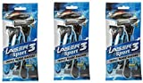 Laser Sport 3 Triple Blade Disposable Razor 5 Pc (Pack of 3)