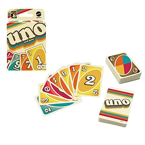 Mattel Games'- UNO Versione Iconica 1970, Gioco di Carte con Design a Tema Anni '70, da Collezione, Giocattolo per Bambini 7+ Anni,...