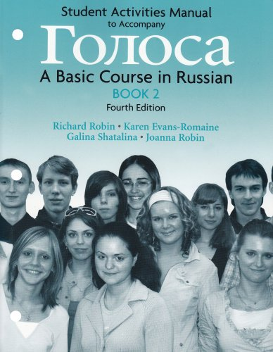 Student Activities Manual for Golosa, Book 2: A Basic Course in Russian (Bk. 2)