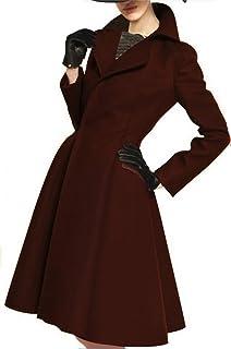 Angel/&Lily Herringbone Woolen Fitted Swing Coat Plus 1x-10x