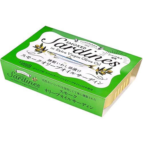 TOMINAGA スモークオリーブオイルサーディン [ 燻製いわし油漬け ラトビア産 ] 100g ×4個