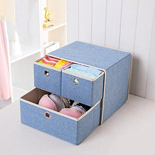 Xuan - Worth Another Boîte de Rangement de tiroir de boîte de Rangement sous-vêtements de lumière Bleu Clair (31.5 * 26.5 * 26.5)