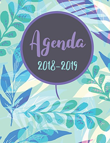 Agenda 2018-2019: Daily Weekly and Monthly Planner, Agenda Schedule Orgaizer Logbook, 8.5