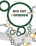 BIG FAT NOTEBOOK: Color Circles Notebook 500 Pages for Business, School And Daily Use (College Ruled, 8,5' x 11') Glossy Cover