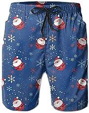 zengdou Merry Christmas Santa Claus Kleurrijke strandshorts voor heren, zwembroek, comfortabel, ademend
