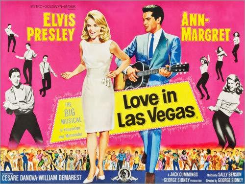 Posterlounge Leinwandbild 90 x 70 cm: Tolle Nächte in Las Vegas (englisch) von Everett Collection - fertiges Wandbild, Bild auf Keilrahmen, Fertigbild auf echter Leinwand, Leinwanddruck