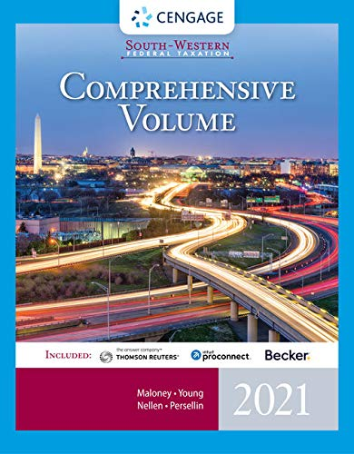 Compare Textbook Prices for South-Western Federal Taxation 2021: Comprehensive with Intuit ProConnect Tax Online & RIA Checkpoint, 1 term Printed Access Card 44 Edition ISBN 9780357359310 by Maloney, David M.,Young, James C.,Nellen, Annette,Persellin, Mark