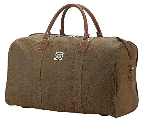 HAUPTSTADTKOFFER - Tiergarten - Reisetasche Sporttasche Handgepäck mit geräumigem Hauptfach, 55 cm, 45 Liter, Braun Lederoptik