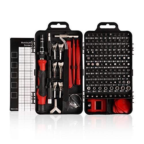 HIRALIY 135 IN 1 Feinmechanik Schraubendreher Set, Mini Reparatur Werkzeug Set, S2-Stahl Präzisionsschraubendreher Set für Telefon, PC usw, Schraubenzieher Set, Screwdriver Set