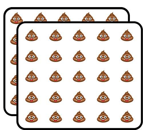 Poop Emoji Smiling Sticker for Scrapbooking, Calendars, Arts, Kids DIY Crafts, Album, Bullet Journals 50 Pack