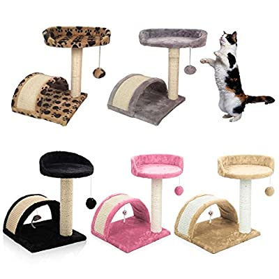 Cat Tree Scratching Post Scratch Activity Center Scratcher Pole Bed Toys 8001