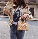 Charol Bolsos de Las Mujeres del diseñador Bolsos Lingge Cadena Hombro Messenger Bag (Color : 18 CM Khaki)