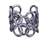 NicoWerk PREMIUM Damen Silberring aus 925 Sterling Silber - Breiter Ring verstellbar im Vintage Stil - Designed in Germany - Schmuck - Inkl. Geschenkverpackung - Schmuck SRI575