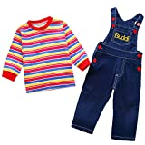 Toddler Baby Boy Girl Clothes Outfits Stripe Top +Denim Strap Overalls/Skirt Winter Clothes 3-4 T