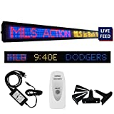 Skybox Game Day Sports Ticker 31-40-50 Inch LED Sign with Live Content, Displays Stats, Scores, Odds,...