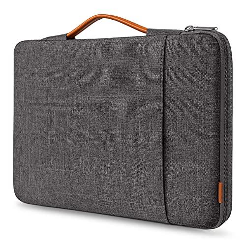 Inateck Custodia Porta PC 14 Pollici Compatibile con Chromebook Notebook Ultrabook 14 ECC, MacBook PRO 15 Pollici 2016-2019(A1707/A1990), 15 Pollici Surface Laptop 3 - Nero Grigio