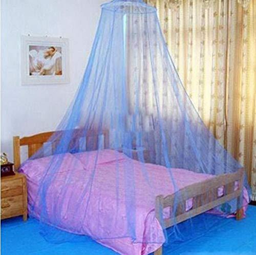 Ving Elegant Rond Kant Insectenbed Luifel Gordijn Dome Polyester Beddengoed Klamboe Huismeubilair, Lichtblauw