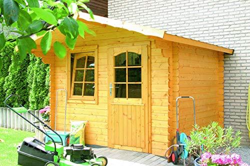 Casetta in legno d'abete 290x220 cm - pareti da 28 mm - mod. HOBY TRONDHEIM in Kit di montaggio