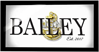 signatives Navy - Navy Gift - Customized Gifts - Home Decor - Navy Chief Gifts - Navy Chief - Navy Chief Anchor - Navy Wife - US Navy - US Navy Chief - Us Navy Girlfriend - Us Navy Gifts - Wall Decor