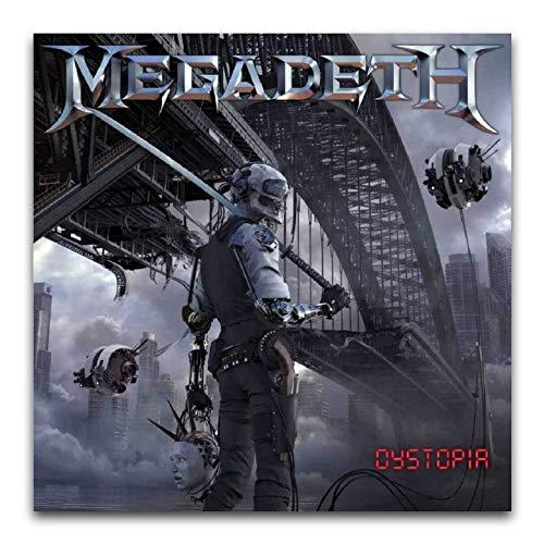 Megadeth Album copertina – Poster distopia pittura decorativa su tela da parete per soggiorno, camera da letto, 40 x 40 cm