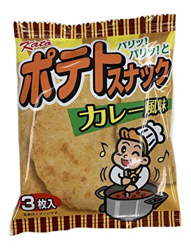 かとう製菓 ポテトスナックカレー風味 3枚入 ×20袋入
