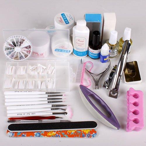 UK Stock Nail Art Care Starter Kit Acrylic Nail Polishing cuboids Set Tool Kid