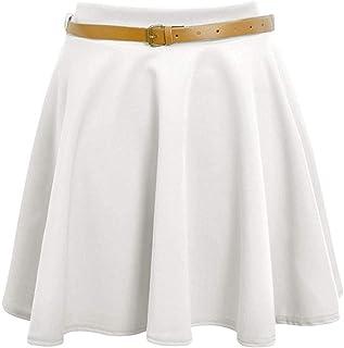 Momo&Ayat Fashions Ladies Belted Skater Flippy Flared Short Mini Skirt 8-26