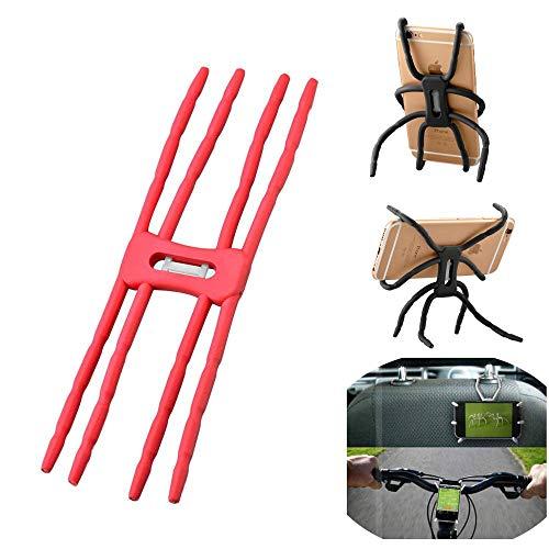 Colorfone PREMIUM Spider Holder/houder/buig Baar TPU/multifunzione ioneel/Auto houder/fietsh ouder/Univ erseel Rood