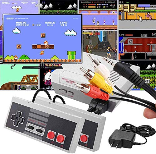 JGRNG Nostalgic AV video game console 620 in 1 built-in plug-and-play video games, handheld game consoles for children and adults with 2 controllers, the best gift for Children's Day