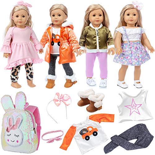 Ecore Fun Casual Wear Set with 4-Outfits and Accessories
