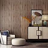 Sisiland Papier Peint Vintage Grain De Bois Rétro Kaki Décoration pour Chambre Salon TV Fond