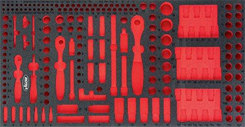 Vigor Weichschaum-Einlage Steckschlüssel-Werkzeug-Satz, leer V4521