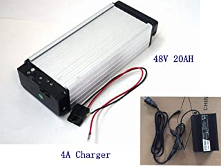 E-Bike Battery,48V 20AH Lithium Li-ion Battery with 4A Charger,for 1000W /1500W E-Bike Kit, Electric Bicycle Scooter Rear Rack Power.
