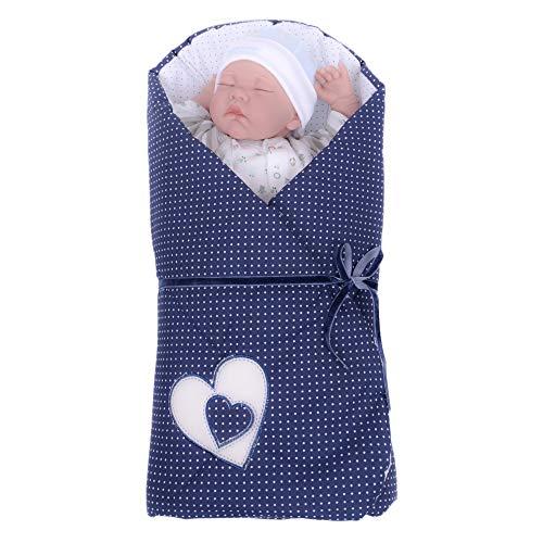 Sevira Kids Baby Girls' Sleeping Bag Navy from Birth - 3/4 Months...