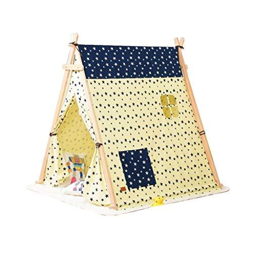 ANQIY Tienda de campaña de lona de algodón, regalo de cumpleaños, plegable, triángulo, Navidad, para niños (color: B)