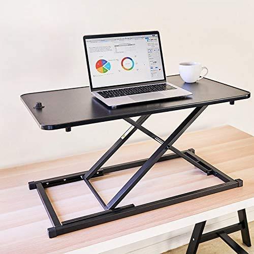"Standing Desk Computer Workstation Stand Up Desks Height Adjustable Sit Stand Converter Laptop Stands Dual Monitor PC Desktop Riser Table,29"""