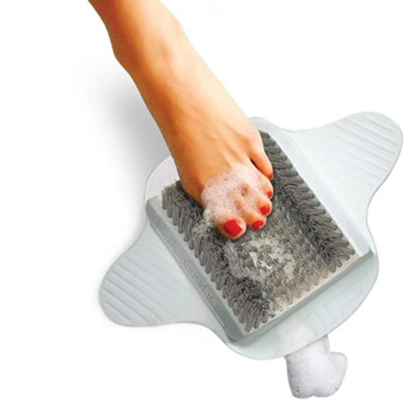 愚か有効化マキシム足スクラバーブラシ剥離足用クリーナースクラブマッサージスパシャワー入浴これ以上曲げる必要はありませんそしてあなたの手を解放します (グレー)